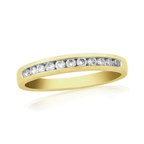 Stunning Yellow Gold Diamond Eternity Ring Channel Set 25 Points
